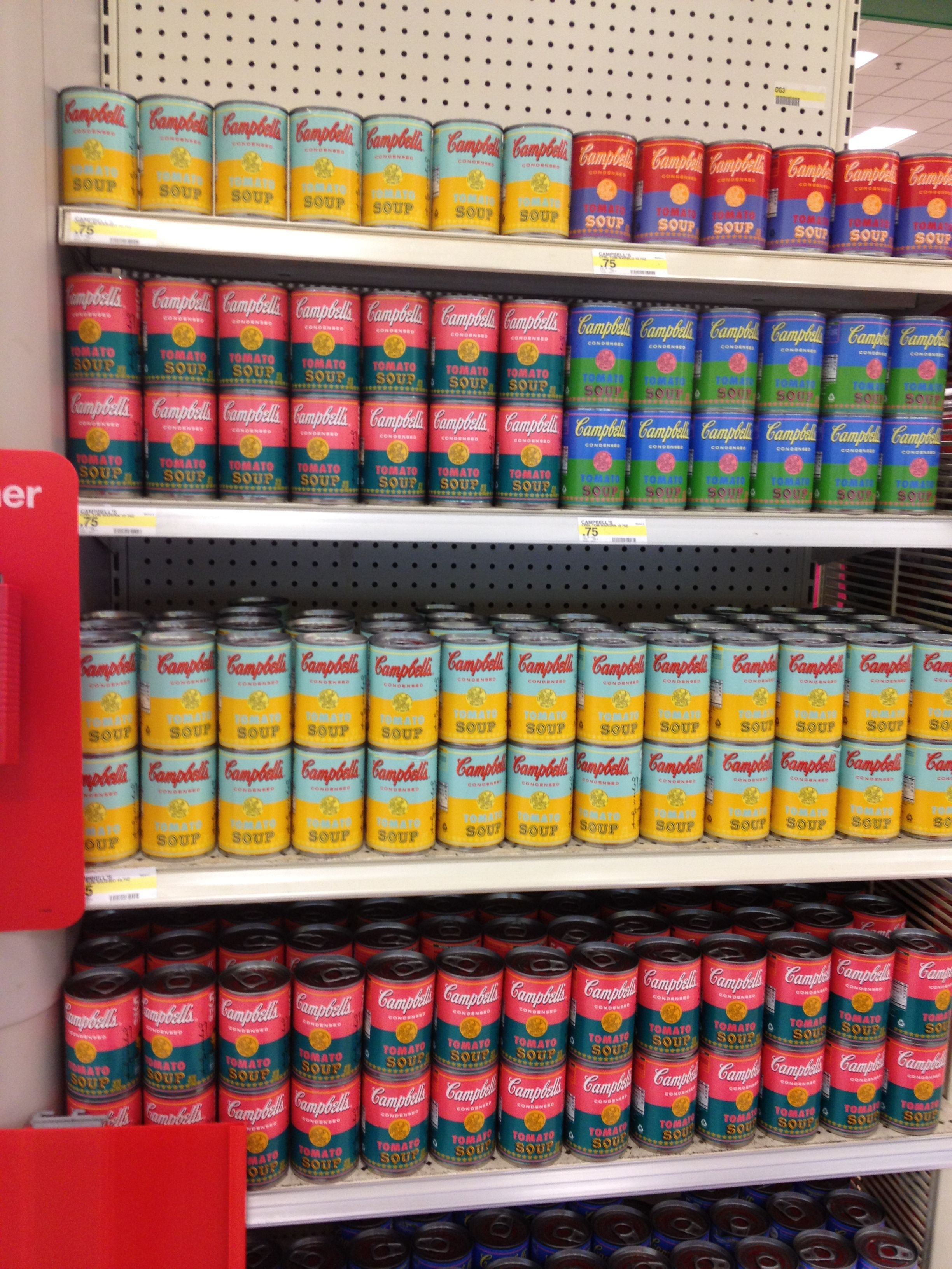 New Andy Warhol soup cans at Target