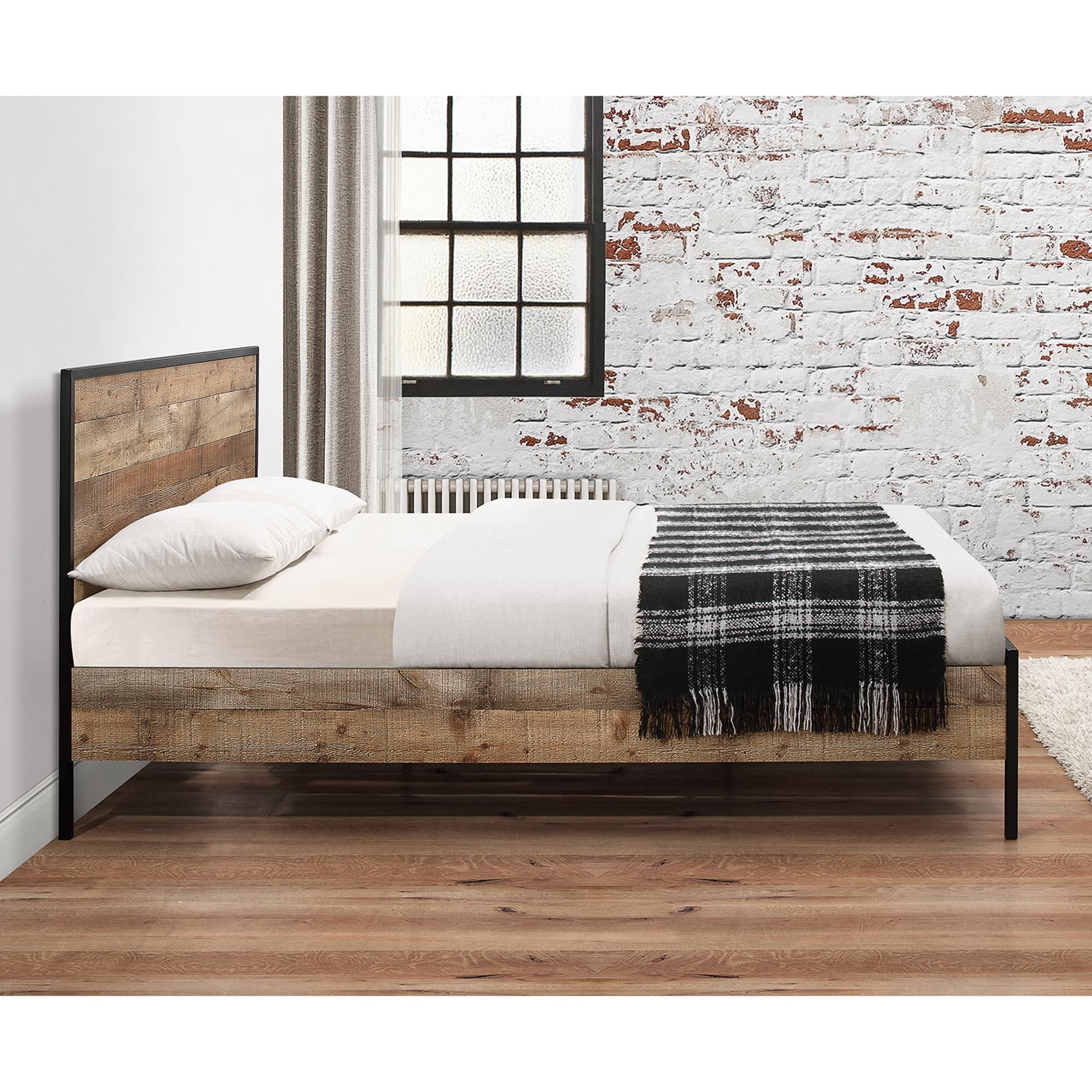 Urban Rustic Bed Frame In 2020 Rustic Bedding Bed Frame Urban