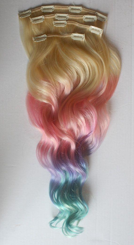 Clip In Pastel Hair Extensions Pink Hair Hair Weave Wide Tracks