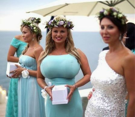 Bridesmaids dresses are usually selected by the bride to for Wedding dresses for large breasts