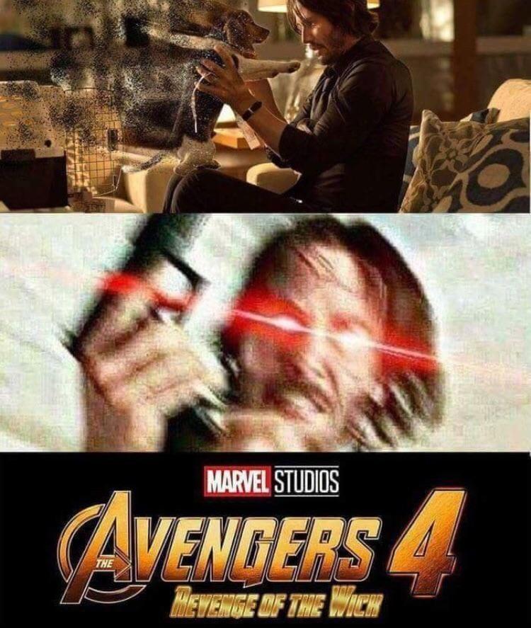 083730c06 if thanos killed john wick's dog boi is gonna DIE | Infinity War ...