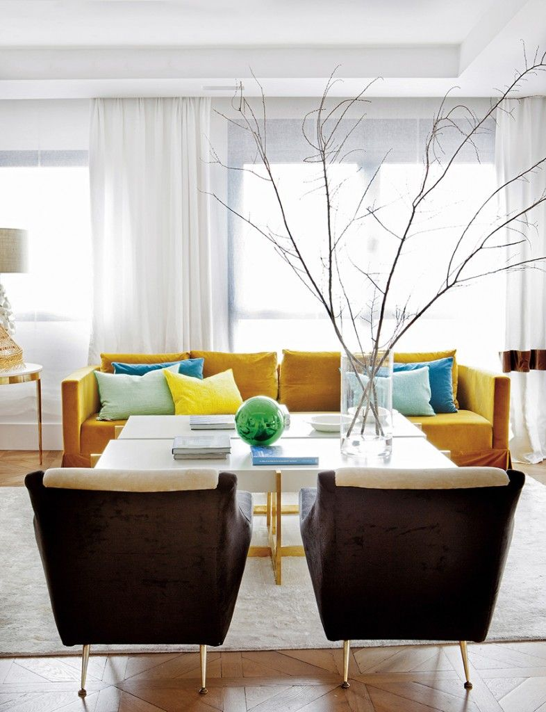 designers} Beatriz Silveira, Madrid | Yellow couch, Living rooms and ...
