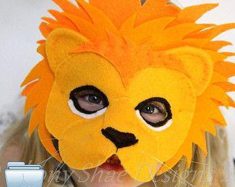 Felt Cheetah Mask Pattern PDF. INSTANT DOWNLOAD by EbonyShae