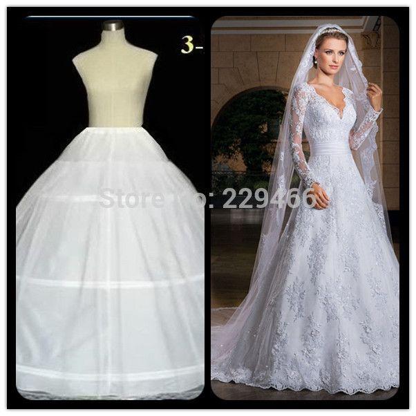 Click to Buy << Free shipping WEdding Dress Bridal Petticoat Wedding ...