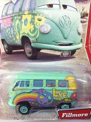 64ffd15838 DISNEY PIXAR CARS Fillmore VW Bus Hippie Peace Love Van Desert Card ...