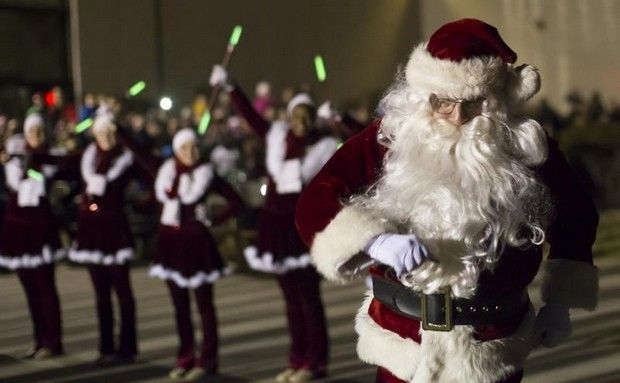 The Julie S Touch Of Silver Twirlers Welcome Santa S Arrival The