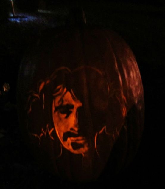 We all know I love Zappa, more than the music all around amazing human. I made a pumpkin of him from the Mother's Days..
