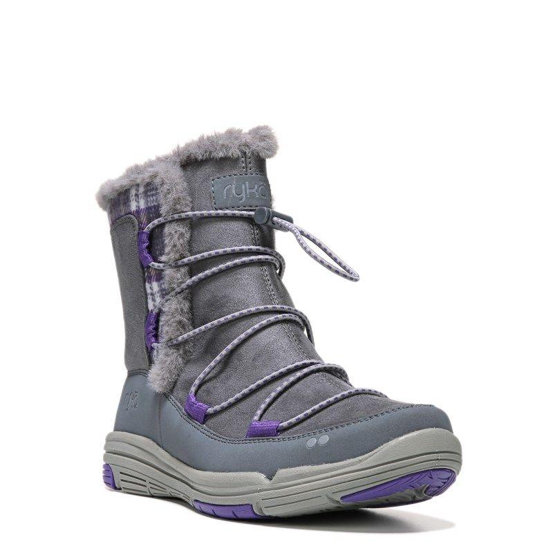 Ryka Women's Aubonne Medium/Wide Sneaker Boots (Grey/Prism Violet) - 12.0