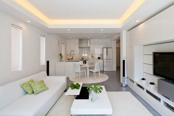 White Living Room Table Sets Living Room And Kitchen Design Ceiling Design Living Room Living Room Designs