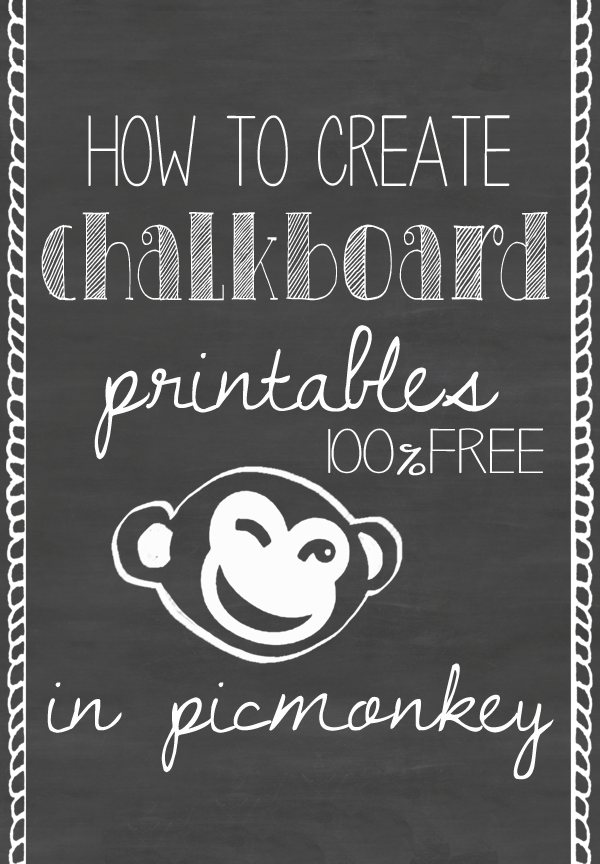 chalkboard template for word
