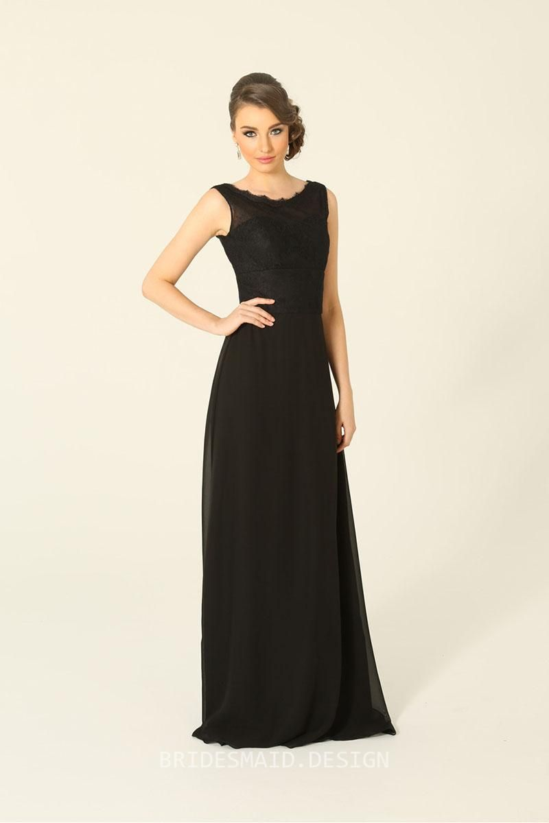 Black lace and chiffon sleeveless a line bridesmaid dress boat neck designer black lace and chiffon sleeveless a line bridesmaid dress boat neck for sale buy black lace and chiffon sleeveless a line bridesmaid dress boat ombrellifo Gallery