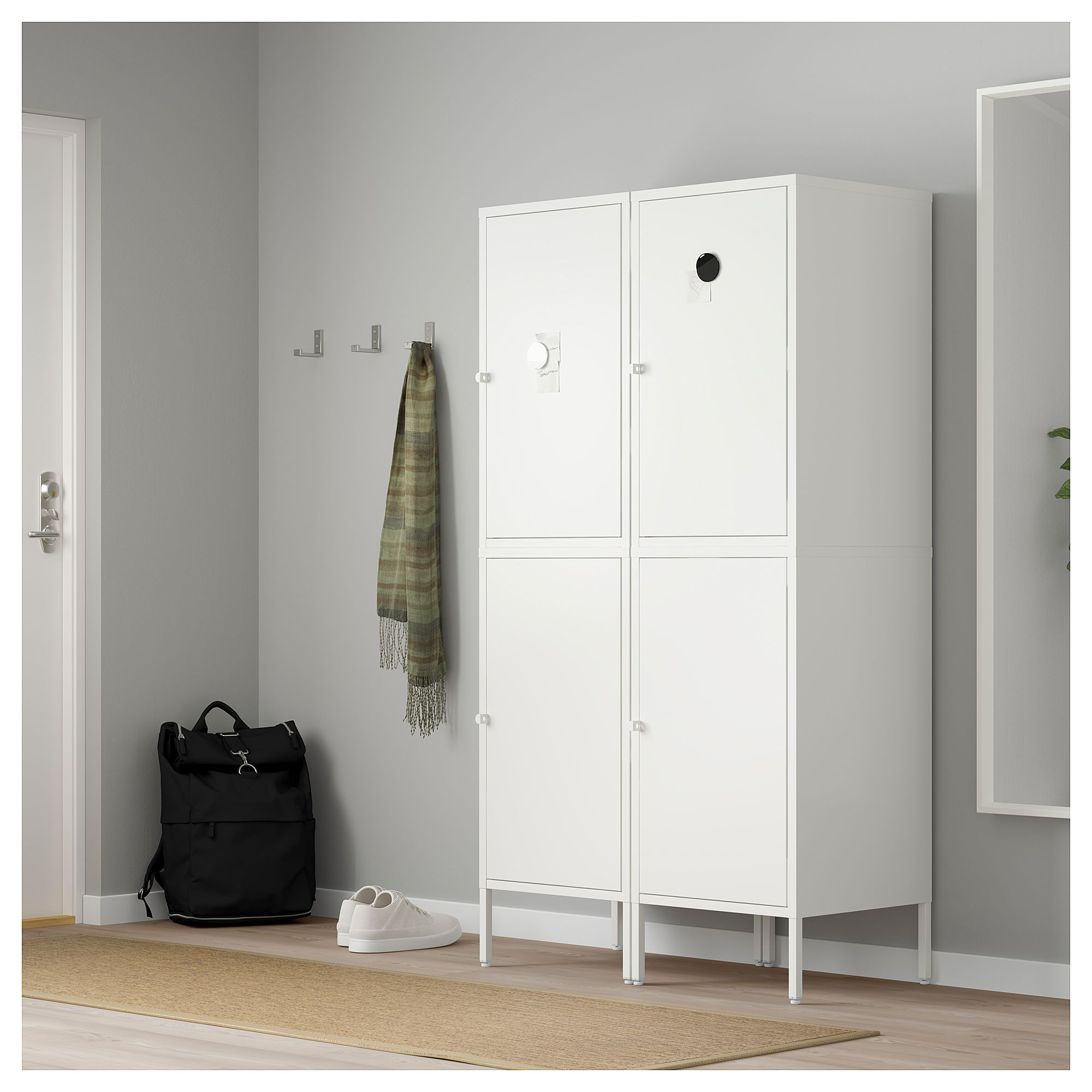Ikea Storage Cabinets Ikea HÄllan Storage Combination With Doors White Mudroom