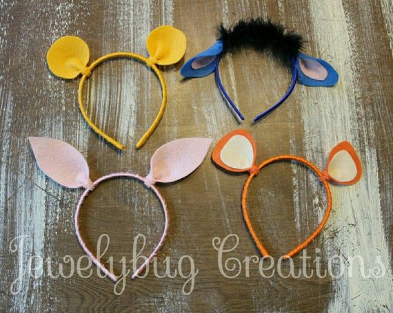 Piglet, Eeyore, Tigger, kangaroo, Rabbit and Pooh ears, comes on clips our headband, choose one or custom 2