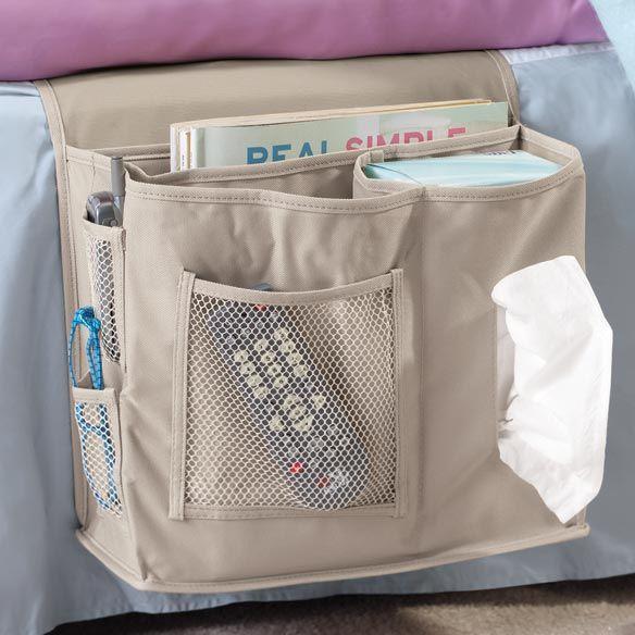Bedside Storage Caddy S Flap Tucks Under Mattress To Keep