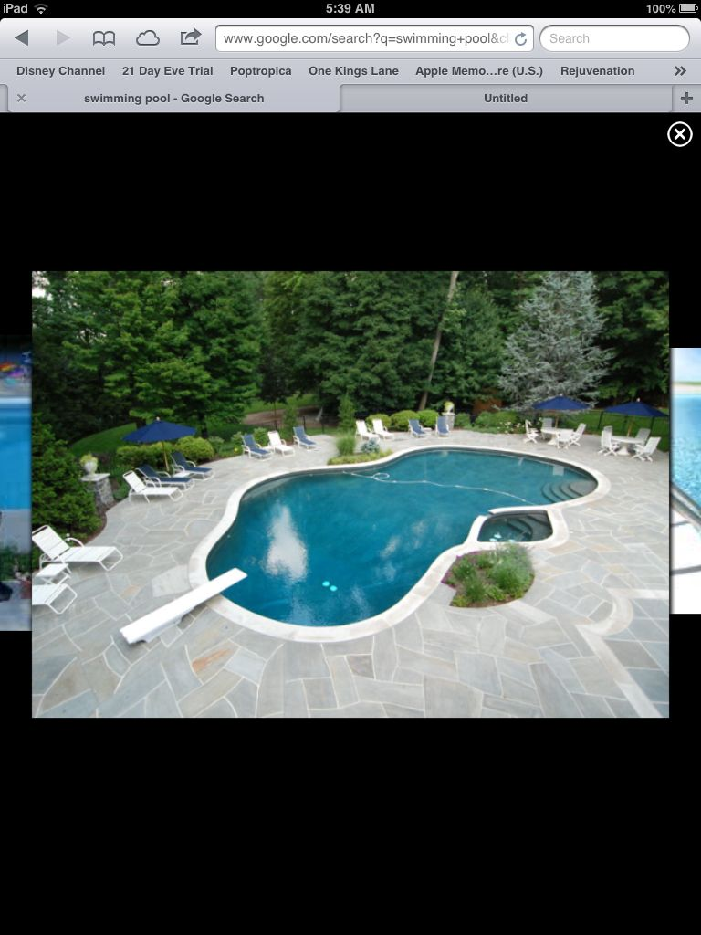 Swimming Pool Light Grey Coping And Grey Flagstone Swimming Pool