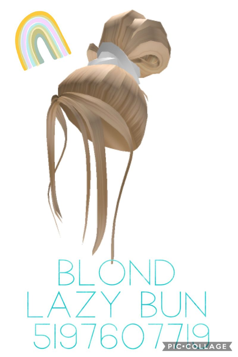 Blond Lazy Bun In 2020 Roblox Codes Roblox Pictures Blonde Hair Roblox