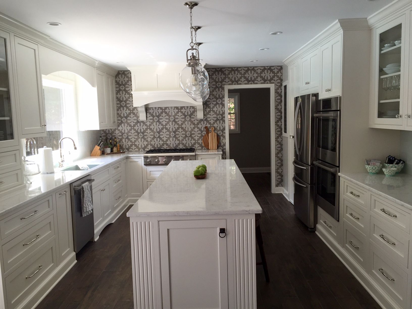 Kitchen Reno Complete Alabaster White Inset Cabinetry Lg Minuet