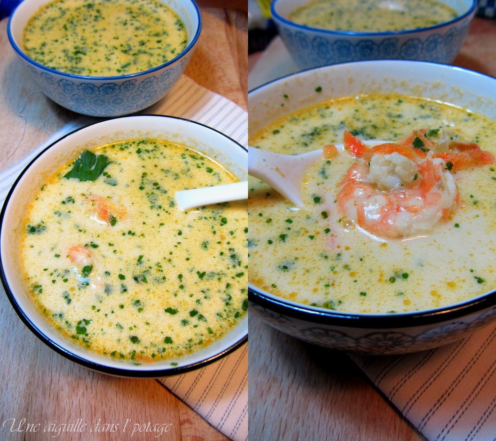 Soupe Thai Lait De Coco Piment Gingembre Citronnelle Oignon