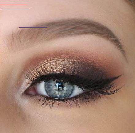 Augen Blaue Blondes Braut Eye Makeup For Blue Eyes Brown Hair