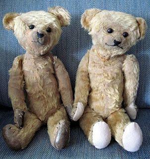 Antique Teddy Bear Twins