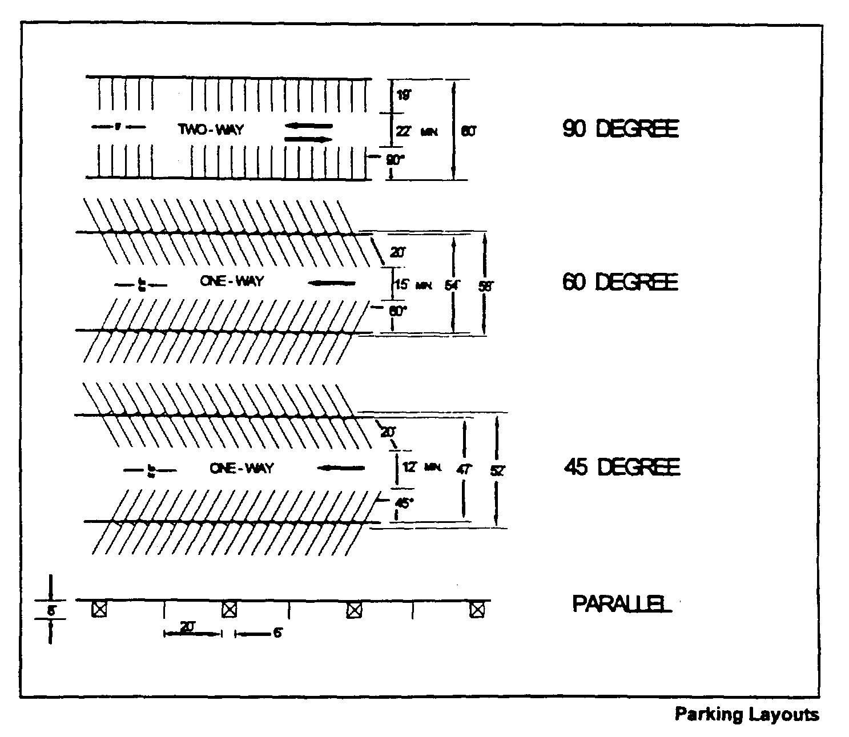 Parking Garage Plan Dimensions 220-58 Off-street Parking
