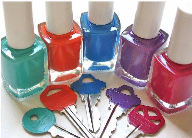 Use Nail Polish to Get Organized