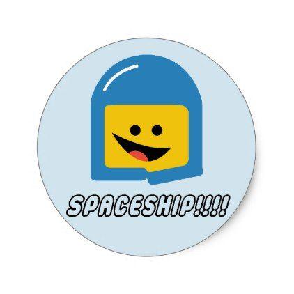 Lego movie benny spaceship classic round sticker kids stickers gift idea diy decor birthday