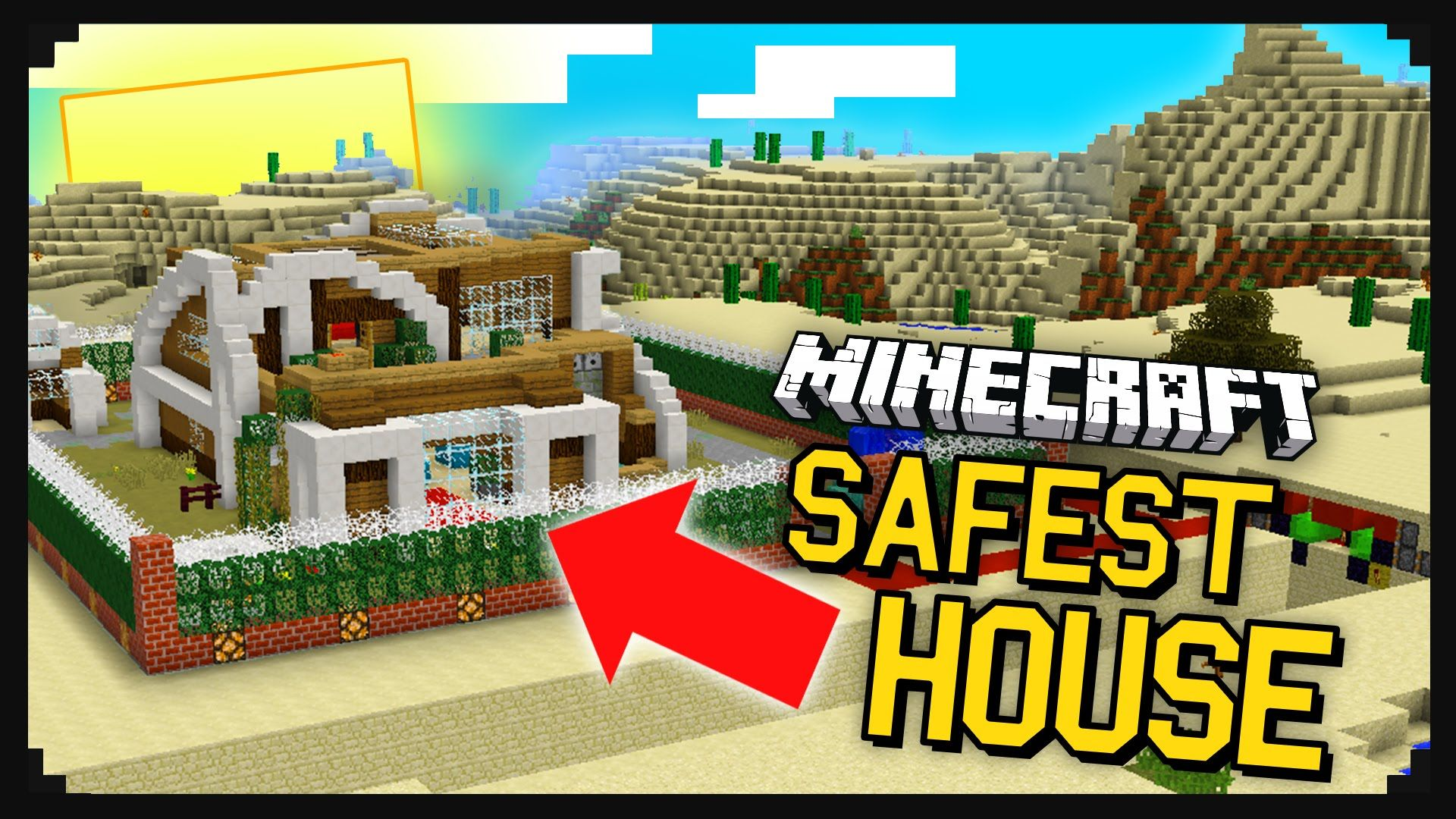 The most safe house in minecraft 40 different security mechanisms the worlds safest redstone house map minecraft sciox Choice Image