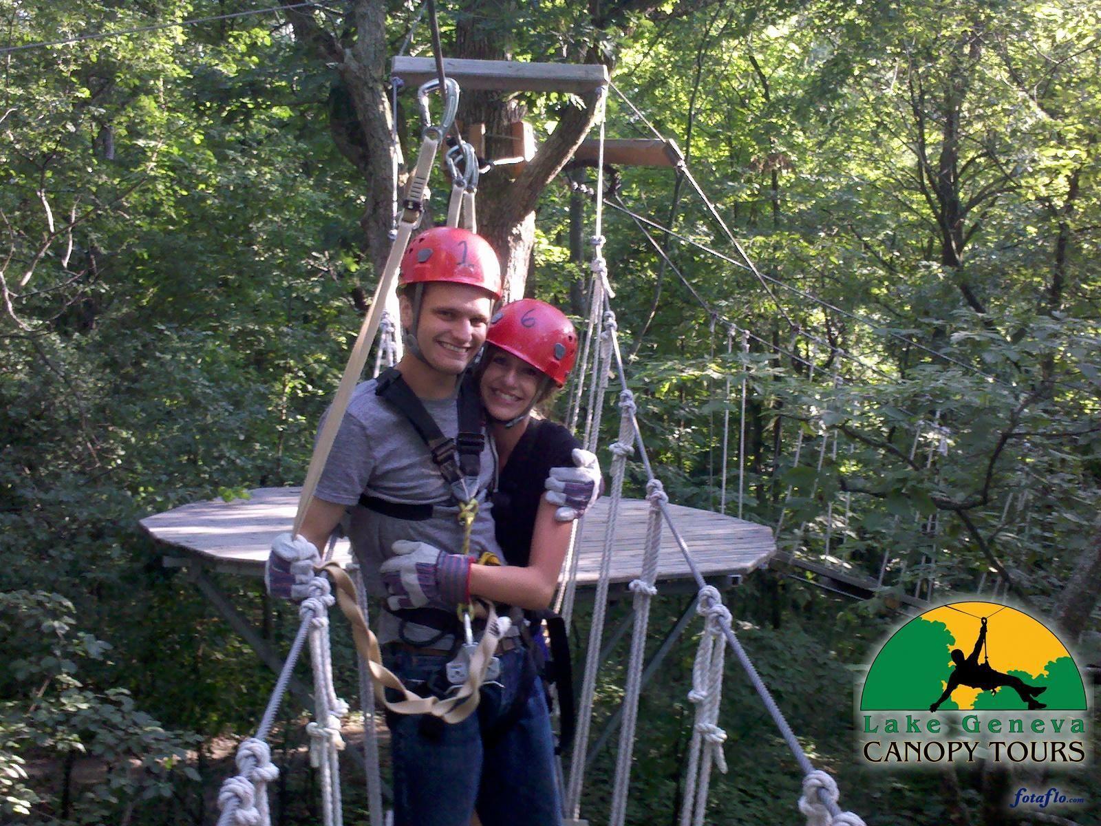 Zip Lining With Lake Geneva Canopy Tours This Little Becker Family In 2020 Ziplining Lake Geneva Lake Geneva Wisconsin