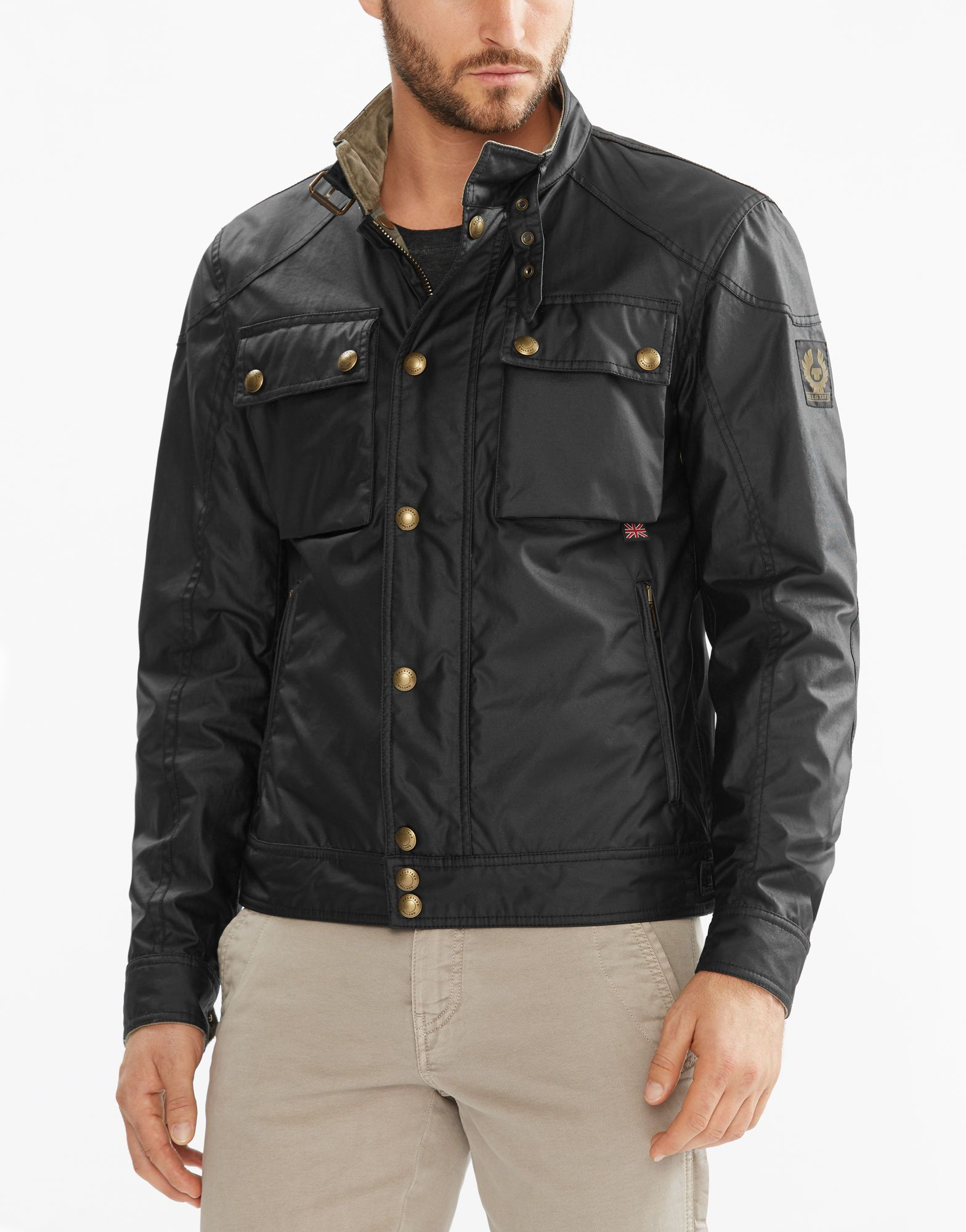 Racemaster Cotton Waxed Jacket Blouson Black Men PXiZuOkwT