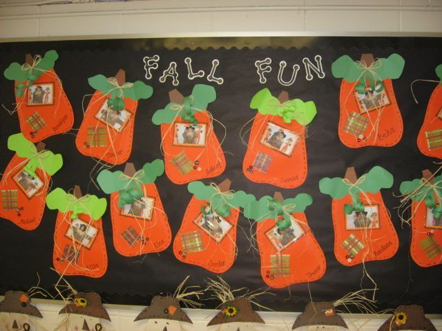 Pumpkin Glyphs - Festive Fall Bulletin Board Idea