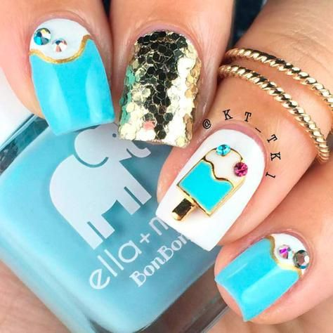 Beautiful Aqua Nails Designs Youll Want To Try Nail Pinterest