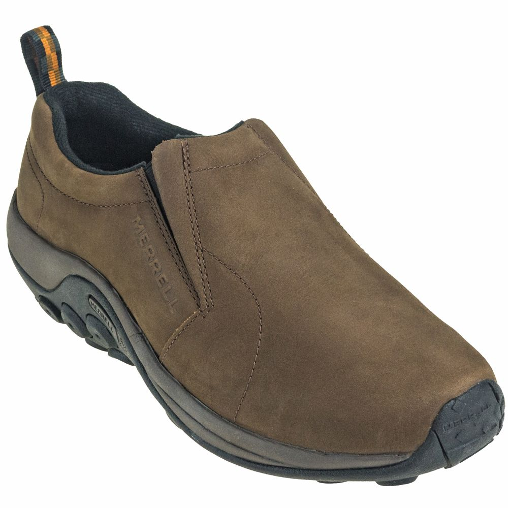 merrell mens jungle moc casual shoes - brown runner