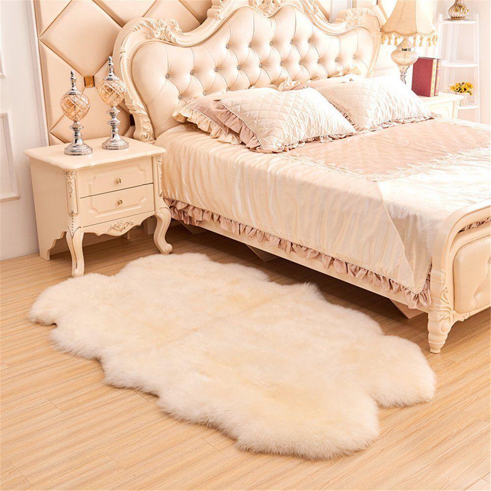 Genuine New Zealand Sheepskin 4 Pelts Handmade Premium Rugs Shaggy Sheepskin Fur 100x200 Cm 3 3x6 5 Ft Floor Decor Natural Leather Floor Decor Home Decor Australia Sheepskin Pillows
