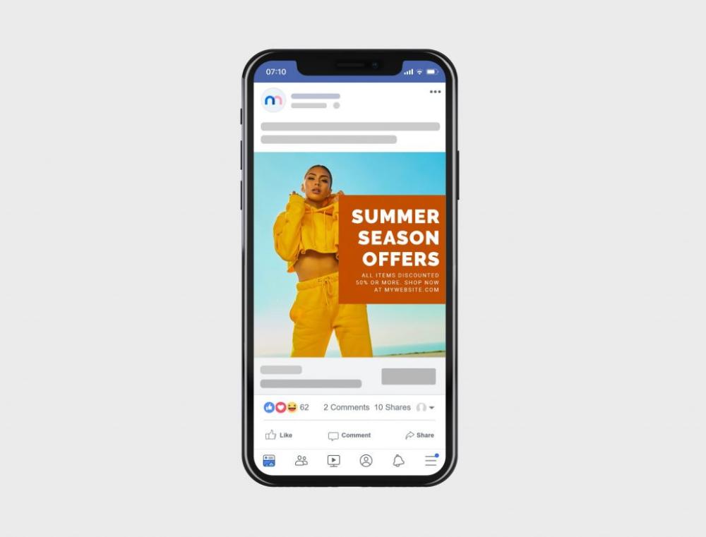 Facebook Mobile Post Ad Mockup Generator Mediamodifier Mockup Generator Instagram Ads Ads