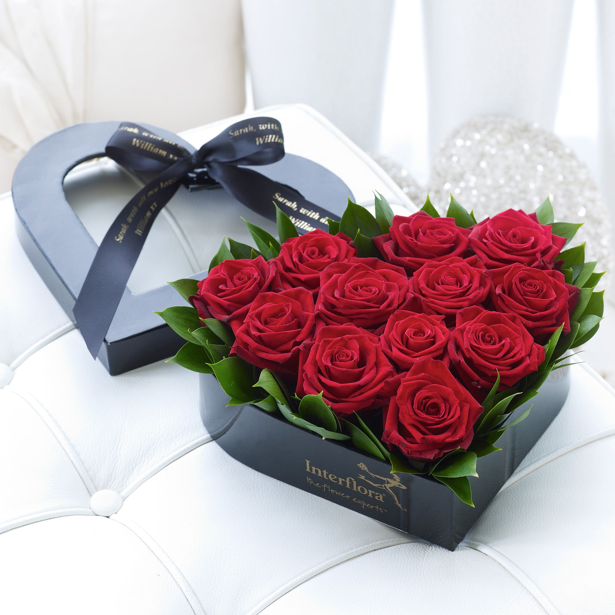 This heartshaped box of roses is a lovely romantic gift