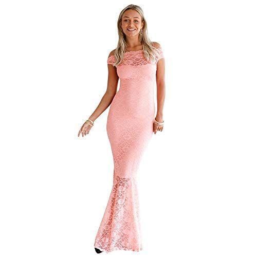 Photo of Hnks-CL Damenkleid Party Abendkleid Hochzeit Brautjungfer langes Ballkleid Kleid Spitze …