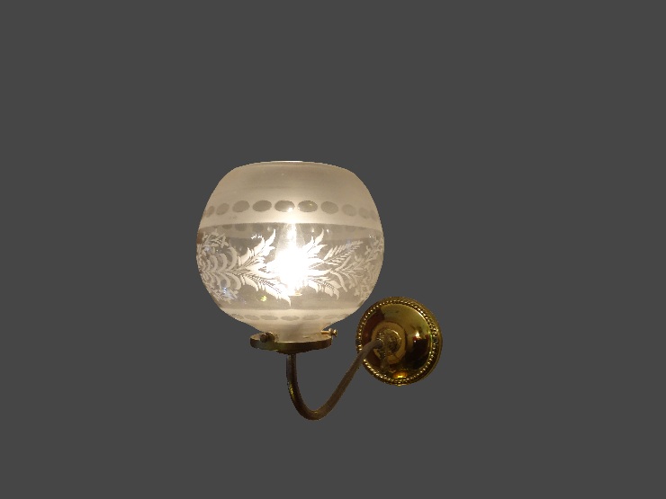 Victorian Wall Sconce With Original Glass Shade, Originally Gas, Now  Electric, Ca 1850s