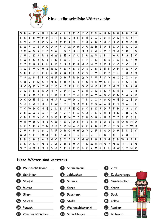 Weihnachtssuchsel Unterrichtsmaterial In Den Fachern Deutsch Fachubergreifendes Worter Unterrichtsmaterial Deutsch Unterricht