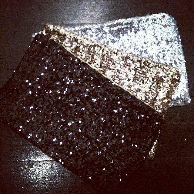 New Sister Moses Sequin Clutch!! Available in Black, Gold and Silver. $30