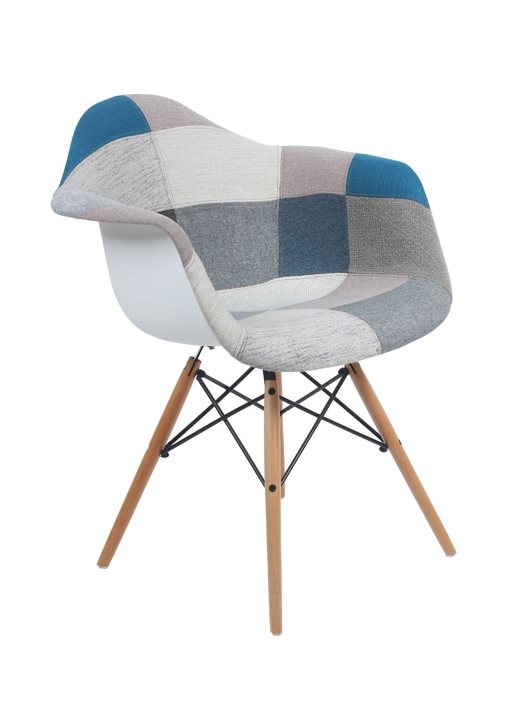 Chaise daw patchwork 2015 deco pinterest eames for Chaise eames bleu canard