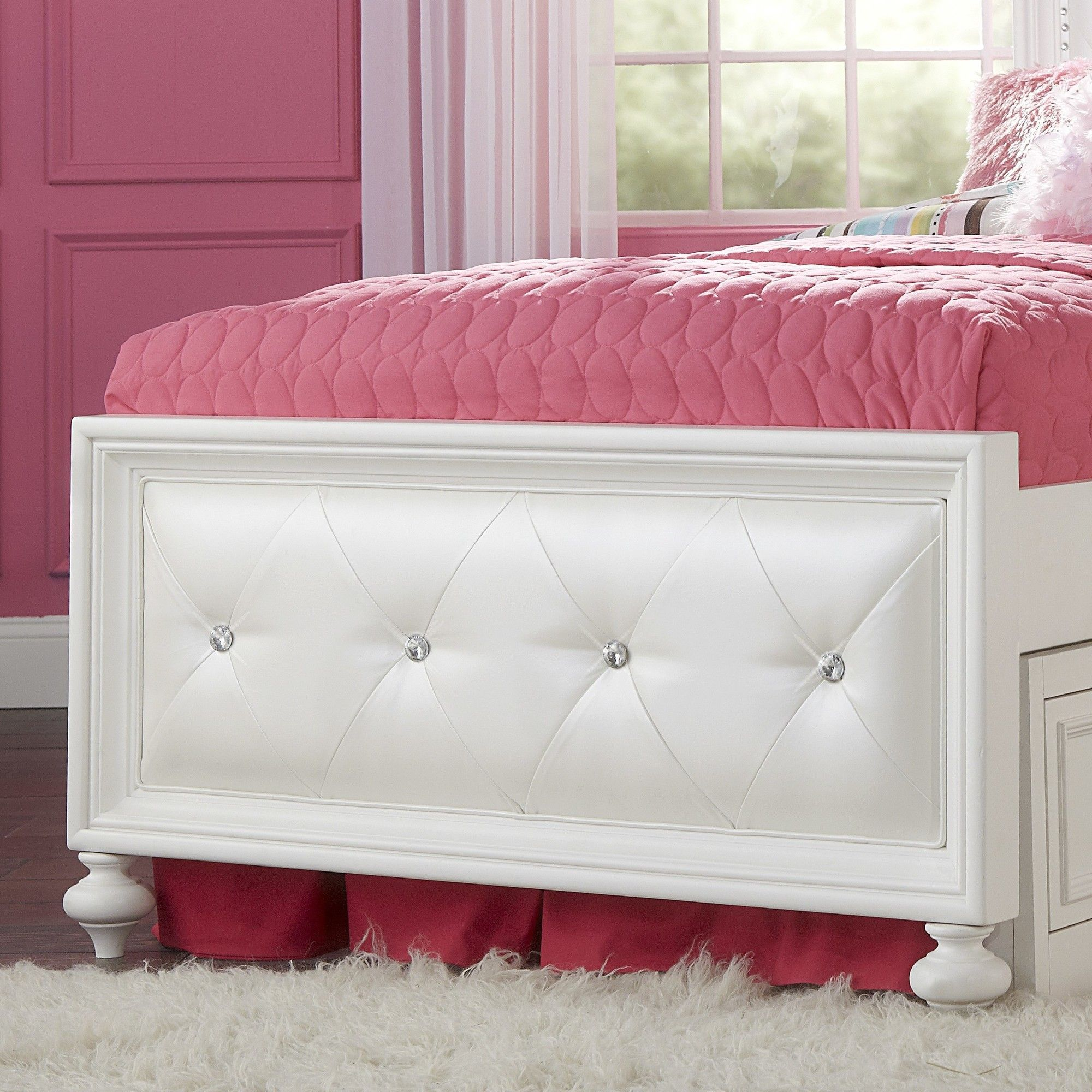 Kids Headboards Madison Twin Upholstered Footboard Products