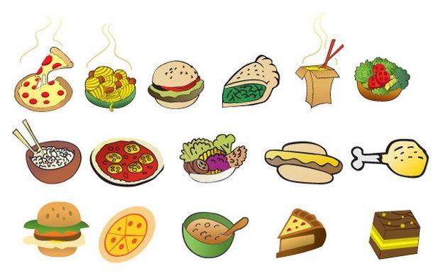 35 Free Food Vector Collections Food Cartoon Cute Cartoon Food Free Vector Art