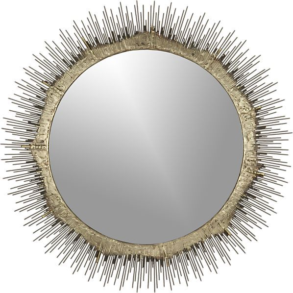 Bathroom Mirrors Crate And Barrel clarendon brass small round wall mirror | small wall mirrors