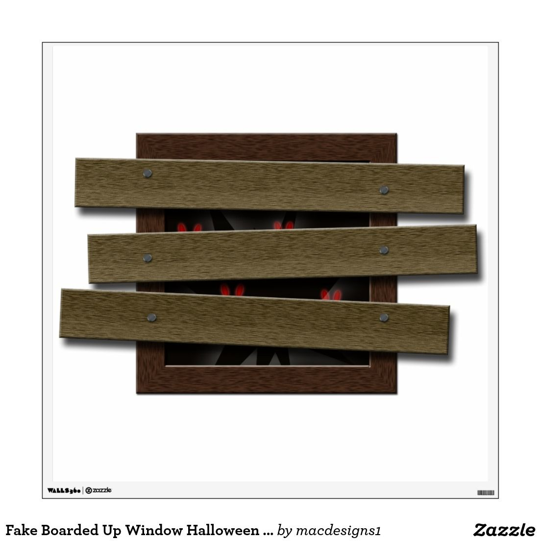 Fake Boarded Up Window Halloween Haunted House Room Graphic