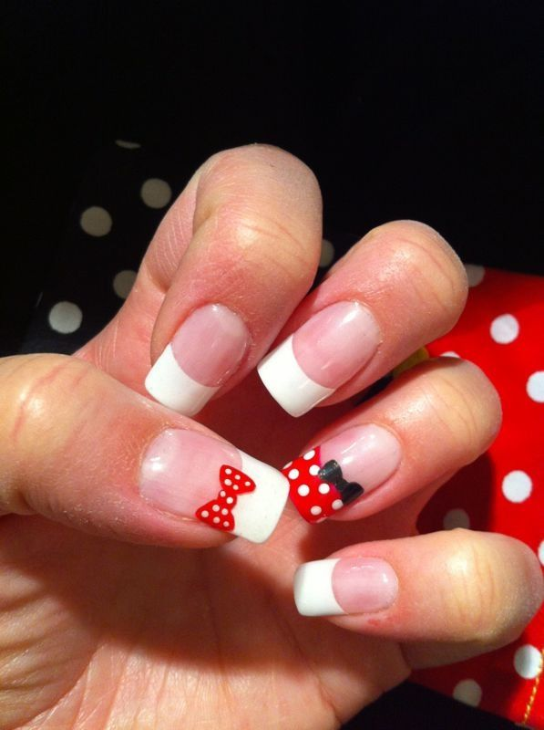 Minnie Mouse nails | Minnie mouse nails