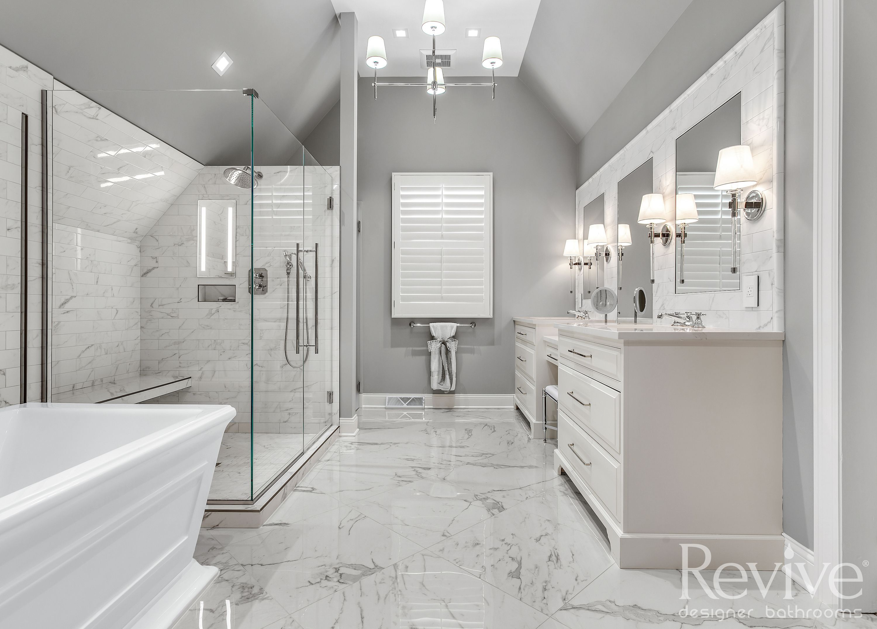 Make It Monochromatic Using One Color Or Tone Throughout Your Bathroom Is An Awesome Trick To Transform Your Bathrooms Remodel Bathroom Design Custom Bathroom