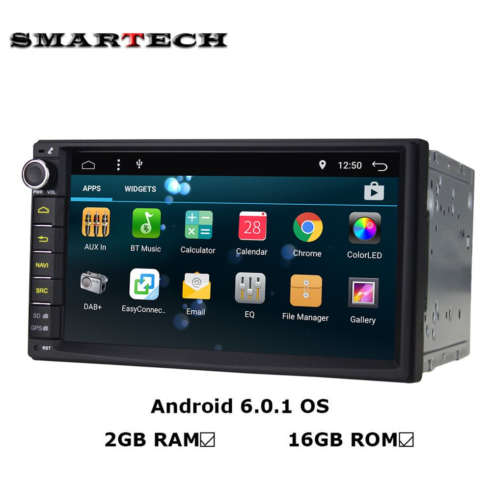 10 1 Big Screen Android 6 0 1 OS 2G+32G 2 Din CAR DVD GPS Radio Player DVR WIFI