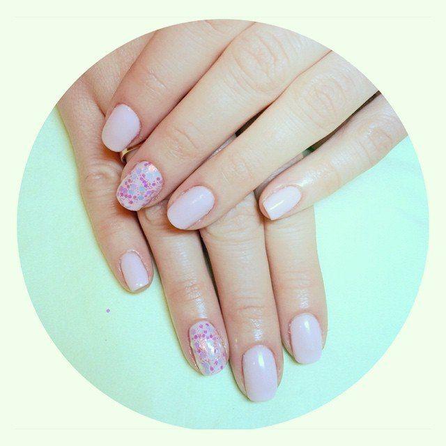 girly pink nails design shellac kodi gelpolish | Nail\'s design ...