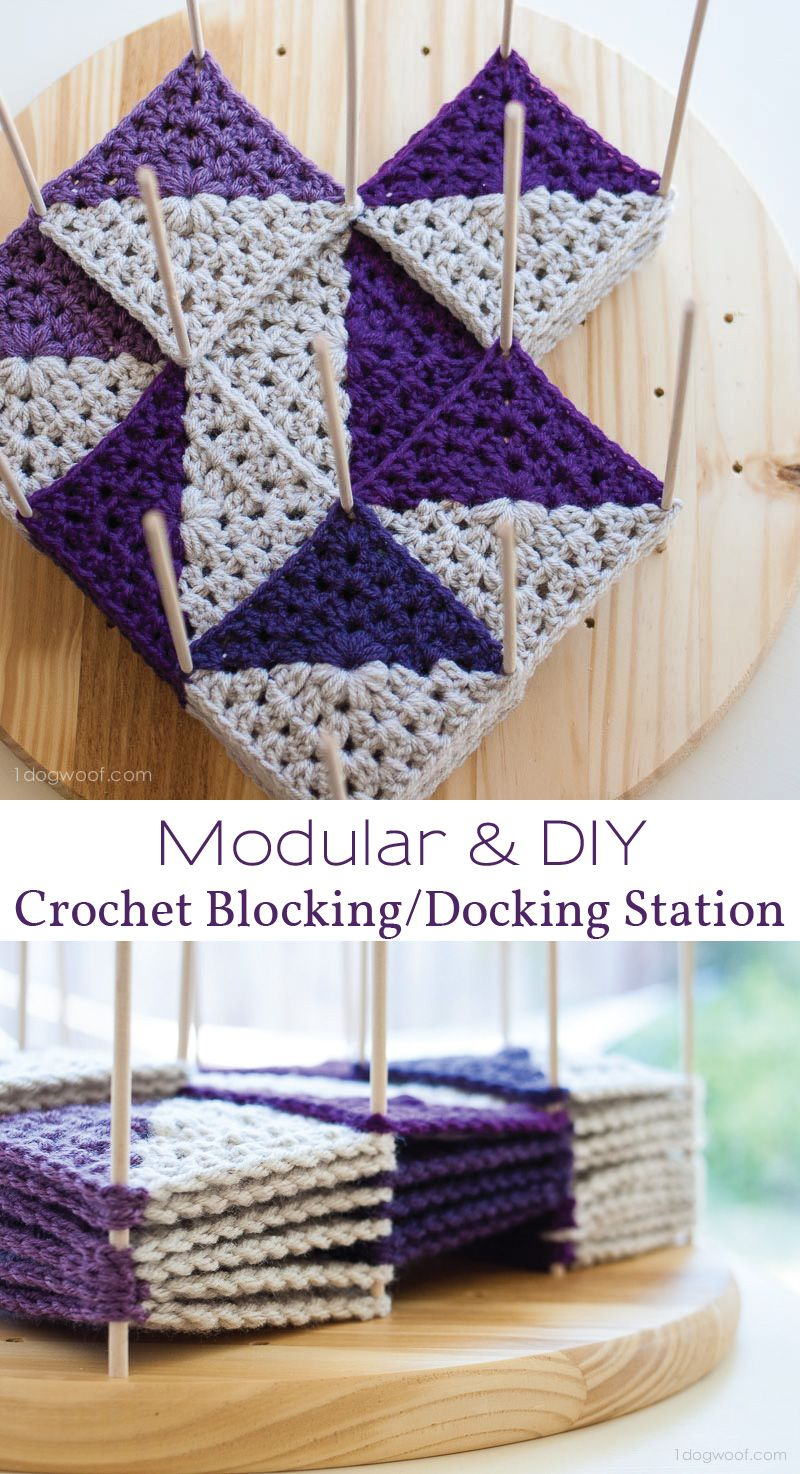 A Versatile And Modular Crochet Blocking Station Block Or Dock Your Granny  Squares In Any